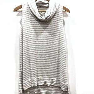   Lou & Grey   striped sleeveless turtleneck